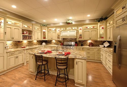 Antique white kitchens, White kitchen cabinets and Kitchen cabinets