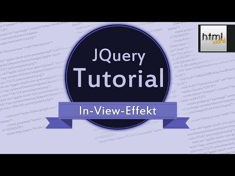 CSS3/jQuery Tutorial: Animierte Webseite mit In-View-Effekt // deutsch - YouTube