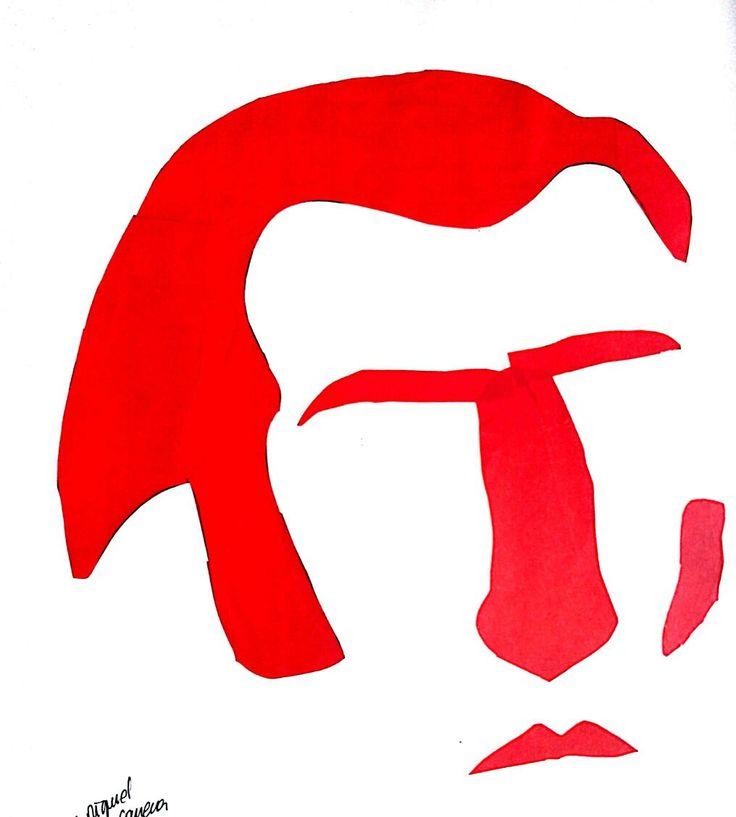 Jose Miguel Carrera iconozado con papel volantin entrega final retrato personaje famoso chileno.