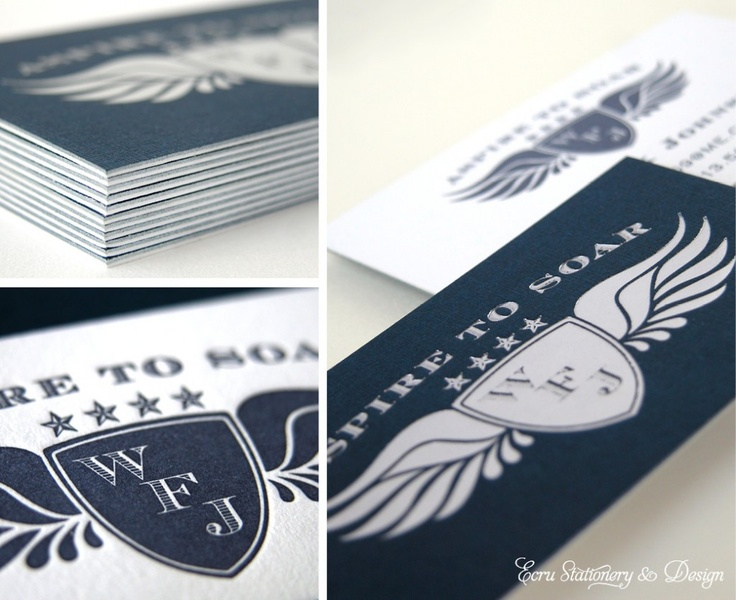 Business cards silver black and white creative idea press design