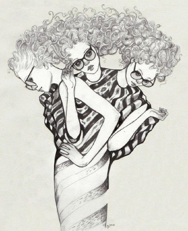 Martine Johanna est une artiste contemporaine hollandaise très talentueuse, qui vit et travaille à Amsterdam. Ses dessins et ses peintures sont traités majoritairement en noir et blanc mais sont parfois agrémentés de couleurs douces.