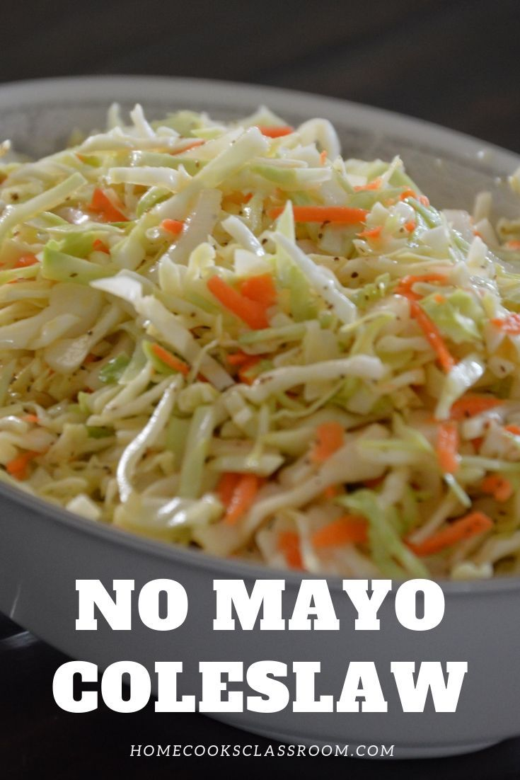 Coleslaw No Mayo Home Cooks Classroom Recipe In 2020 Coleslaw Recipe No Mayo Coleslaw Coleslaw