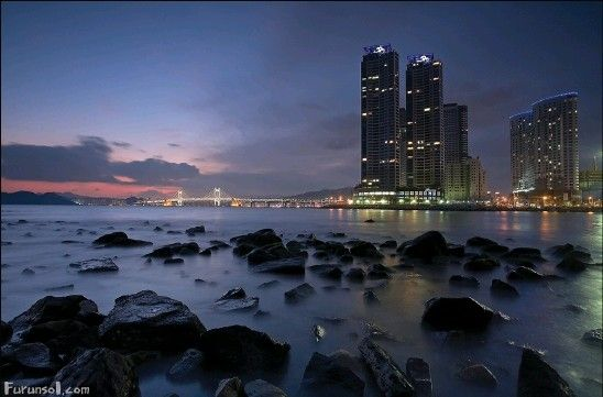 Haeundae of Busan in Korea
