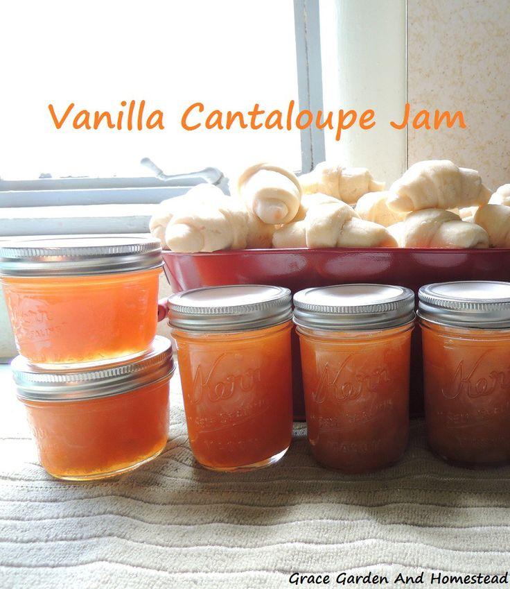 What do you do with a bumper crop of cantaloupe? Make vanilla cantaloupe jam of course!