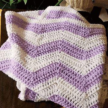 Crochet Ripple Blanket for Beginners   Zigzag Blanket