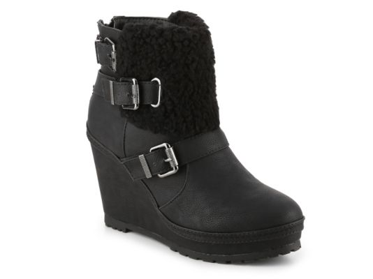 Women's Union Bay Apreski Wedge Bootie - Black