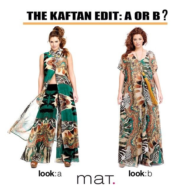 The kaftan is a holiday staple that never goes out of fashion and is always an essential when it comes to packing your getaway style! • #matfashion #realsize #fashion #inspiration #summertime #mat_summer15 #collection #ootd #whattowear #fashionista #plussizeblogger #plussizefashion #outfit #shopping #summer #animalprint #trend #kaftan #vacations #holiday #style