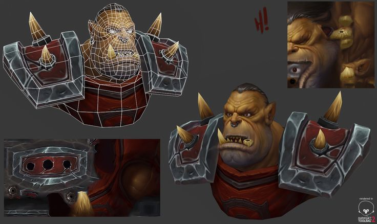 Orc bust, Josh Harris on ArtStation at https://www.artstation.com/artwork/0dx4e