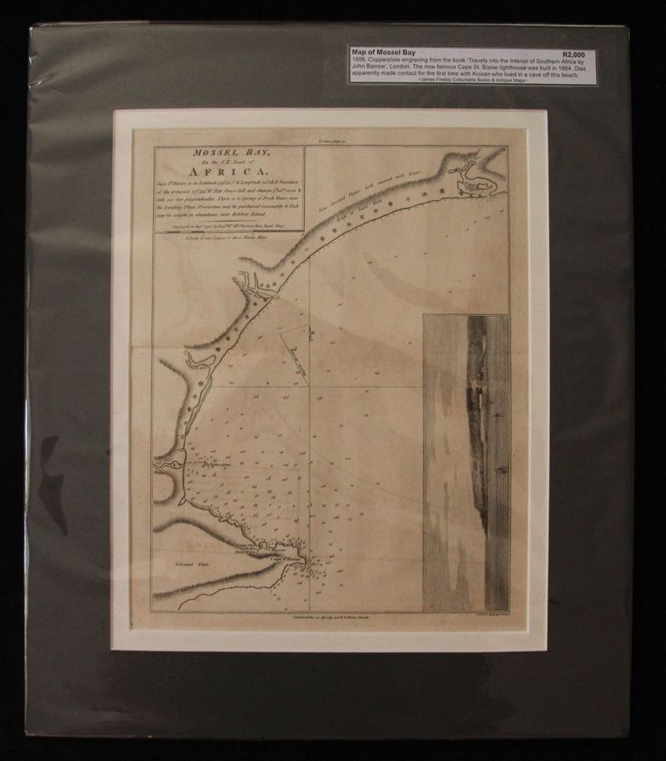 Map of Mossel Bay, South Africa by John Barrow 1806