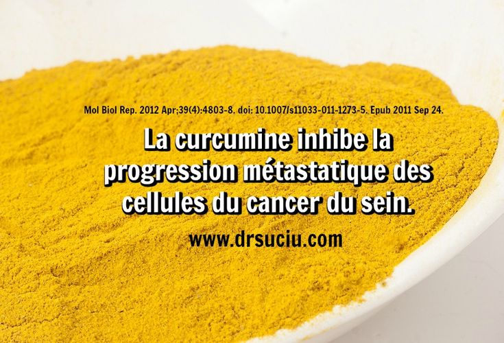 Photo La curcumine inhibe la progression métastatique des cellules du cancer du sein - drsuciu