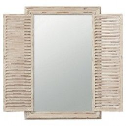 Whitewashed shutter mirror - Products - as featuring currently on www.apassionforhomes.com