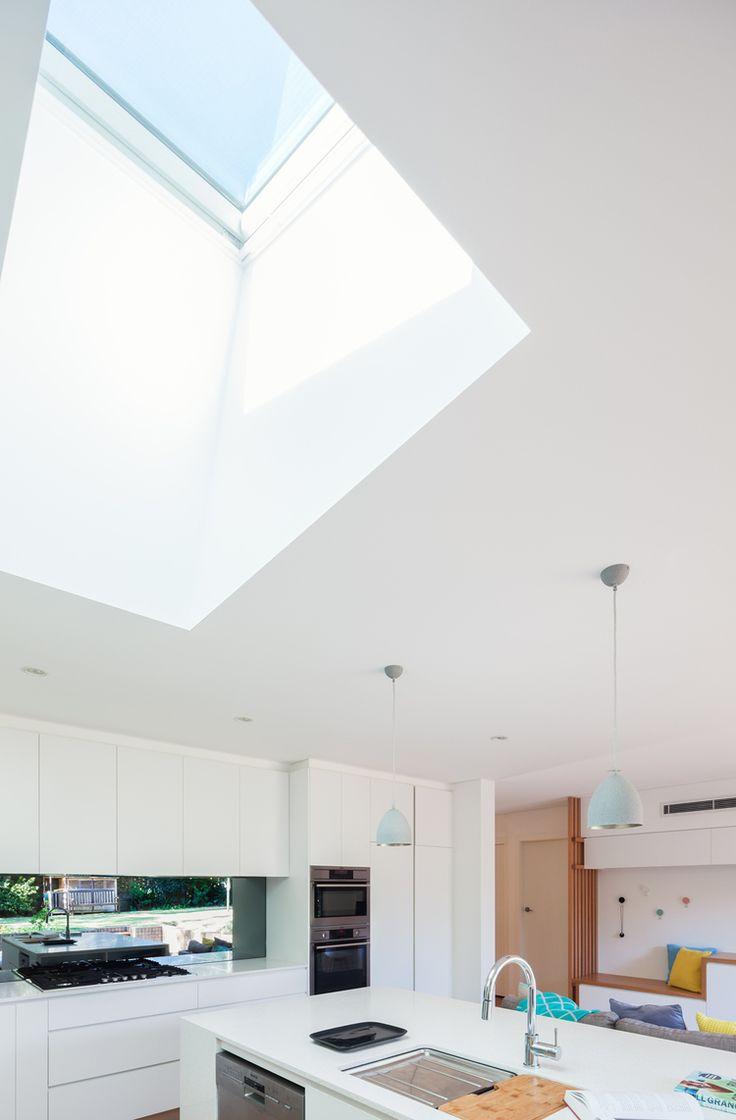 Skylight in open kitchen at Escu House Sydney — Bijl Architecture