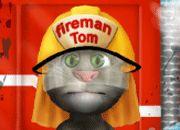 Talking Tom Firetruck Washing