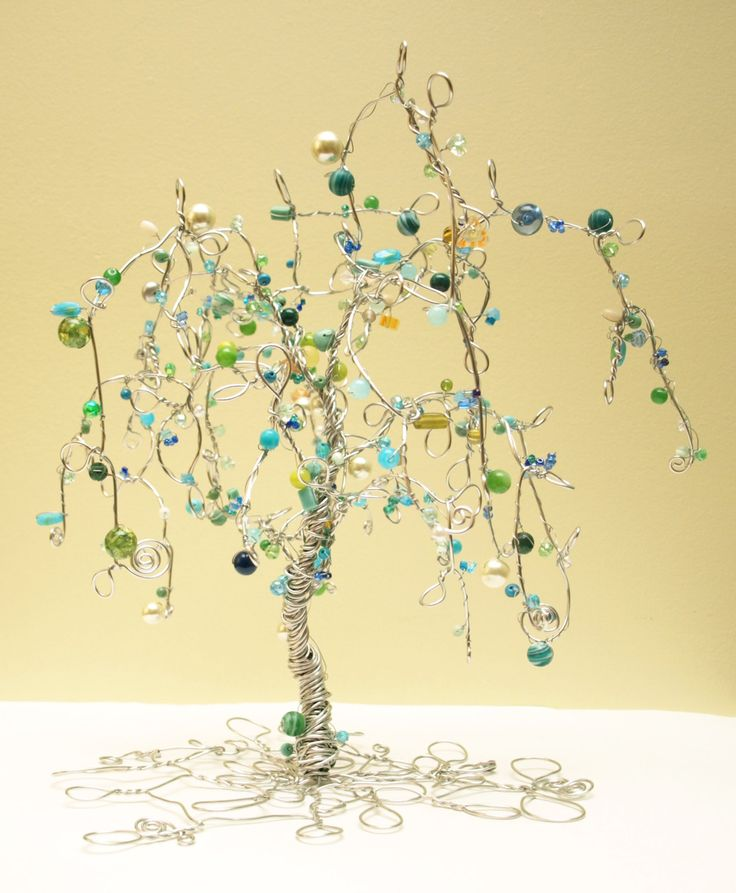 The 57 best Crafts -Mini Wire Trees images on Pinterest | Wire trees ...