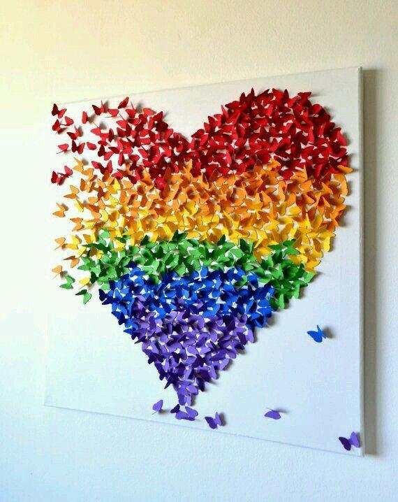 Butterfly heart art