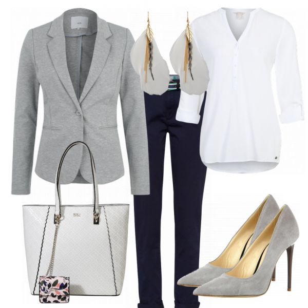 Business Outfits: Greylover bei FrauenOutfits.de #fashion #fashionista #inspirat…