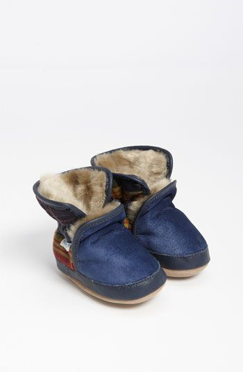 Robeez® 'Cozy' Ankle Bootie (Baby & Walker) available at #Nordstrom SO cozy!