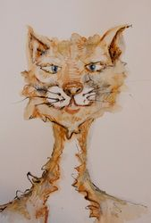 My interpretation of the Cat from The poem The Owl & The Pussy Cat. http://www.tinavdb.com