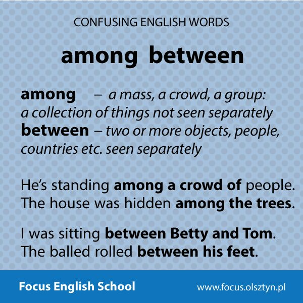 The confusing English words: among, between