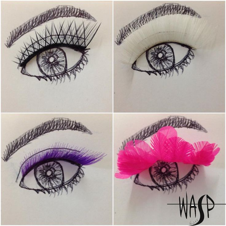 Wasp Lashes  Lash 1: Danielle Lash 2: LOU LOU  Lash 3: Akasha Lash 4: Sassy   Visit http://www.wasphair.com.au/shop/ to explore the full lash range.  #creativeeyelashes #eyelashes #Lashesart