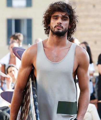 Surfer hair - Marlon Teixeira at Ports 1961 Spring 2016