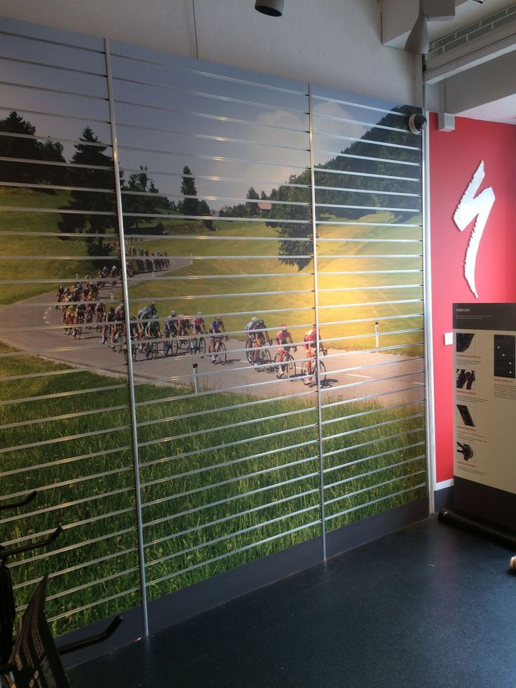 Superb Looking Retail Slat Wall Graphics For Specialized