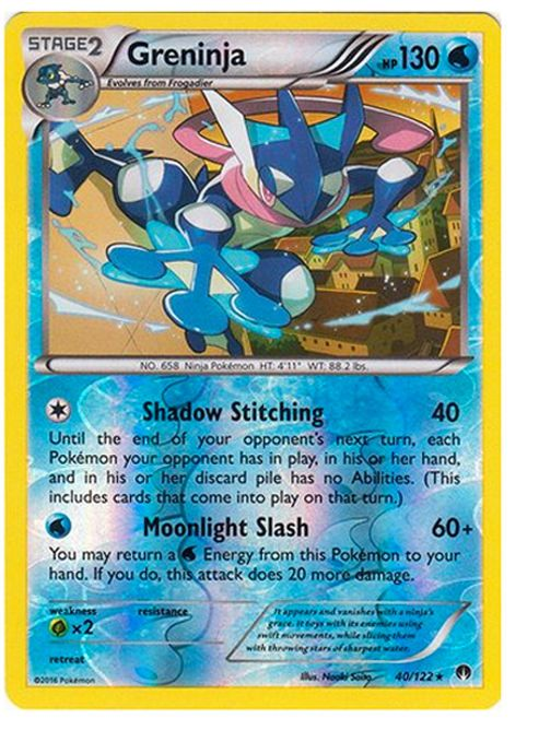 2 Greninja Pokemon Card set 1 holo, 1 regular 40/122 rare cards GREAT CONDITION!