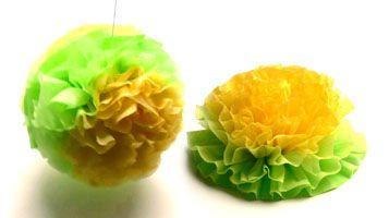 Serviettenblume und Serviettenball