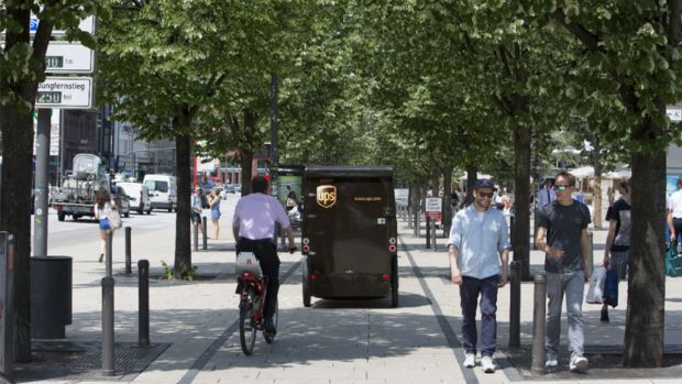 UPS ebike - electric cycle delivery vehicle