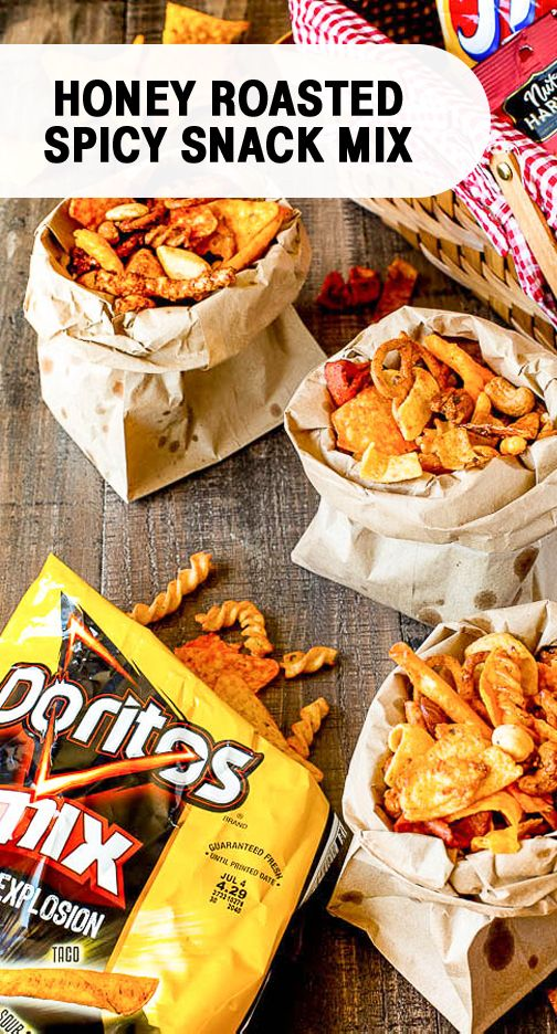 Sponsored by Frito-Lay   Say hello to your new go-to snack idea. This recipe for Honey Roasted Spicy Snack Mix has hints of sweet and salty flavors, not to mention it's easy to make! You can't get a better combo when it comes to making a treat for your family. Grab Doritos, Doritos Mix, Rold Gold pretzel twists, Fritos Original, Cheetos, and Nut Harvest Mixed Nuts to make the perfect dish for any occasion this summer. It's entertaining made easy thanks to these delicious Frito-Lay® products.