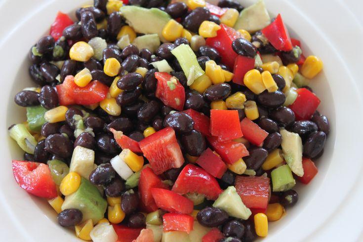 Zwarte bonen-salade