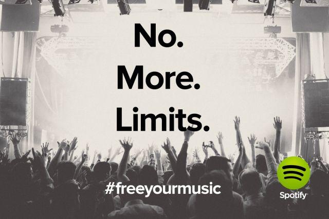 #Spotify, gratuito e illimitato! #freeyourmusic