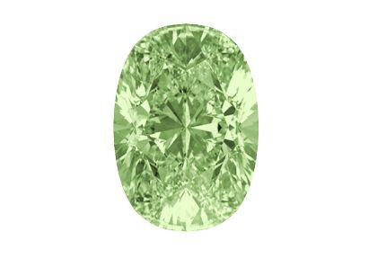 Oval diamond in the color chameleon #grün #chamäleon #diamant #oval #zertifiziert #yorxs