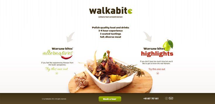Walkabite website design.