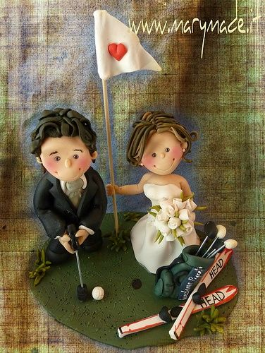 From #golf to #skiing MaryMade.it's got it covered visit my site and book today you very own #handmade #exclusive #wedding #caketopper