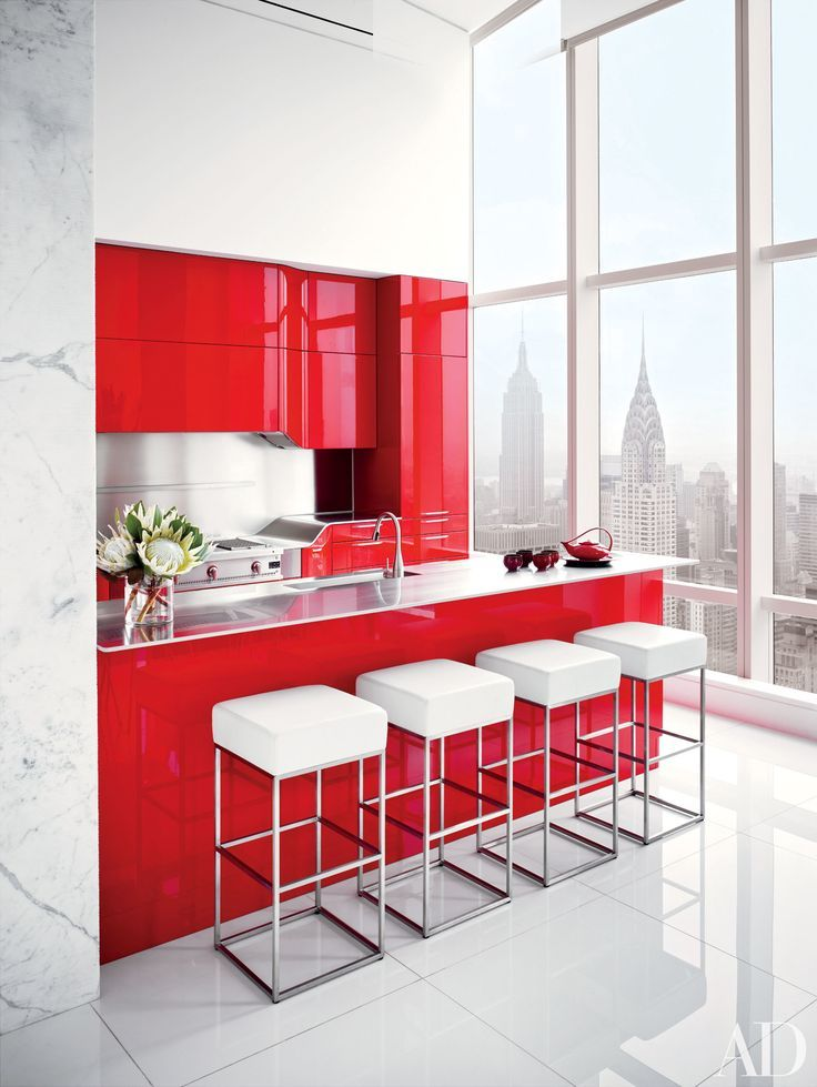 Image result for white and red interior design