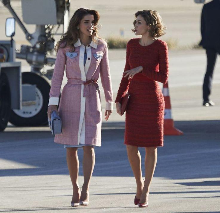 Battle of the Fashion Queens: koningin Rania van Jordanië vs. koningin Letizia >>  #royalty