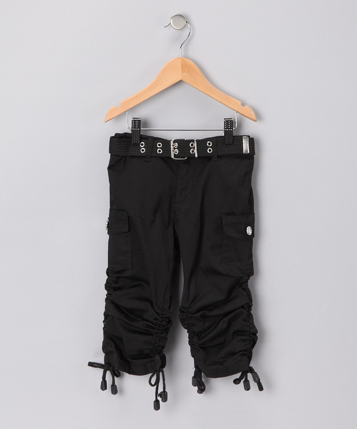 girls black capri pants - Pi Pants