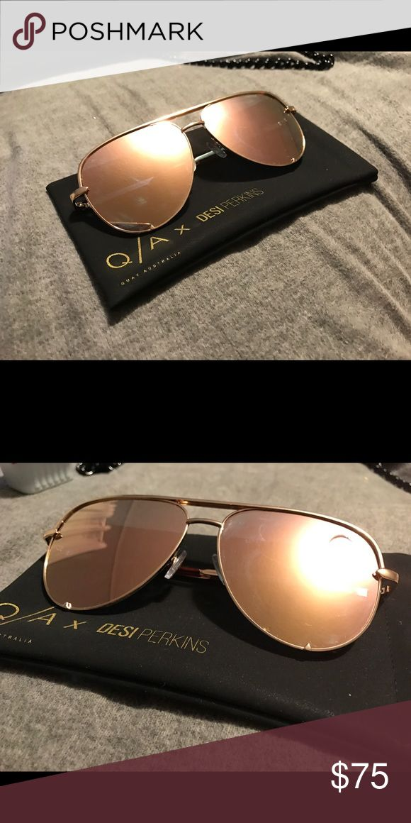 QUAY HIGH KEY gold x Desi Perkins Q/A x Desi Perkins High Key in Gold. $75 Quay Australia Accessories Sunglasses