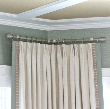 Ona Drapery hardware - beach style - curtain- Catania raw silk fabric-Samuel and Sons trim - denver - Finishing Touches-seaside-coastal- bay window-window treatments--Castle Pines-Castle Rock-Highlands Ranch-Lonetree