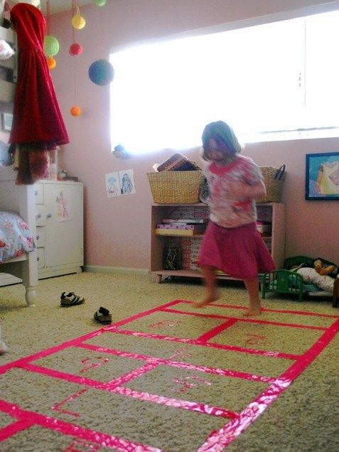 Play hopscotch indoors!