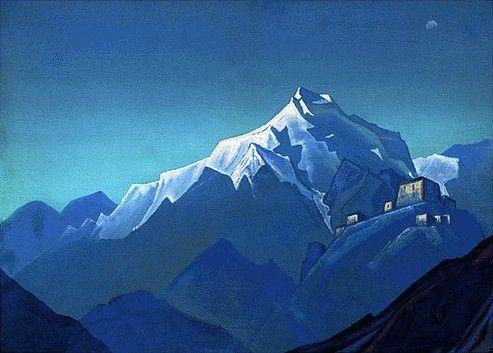 Tibetan Monastery by Nicholas Roerich