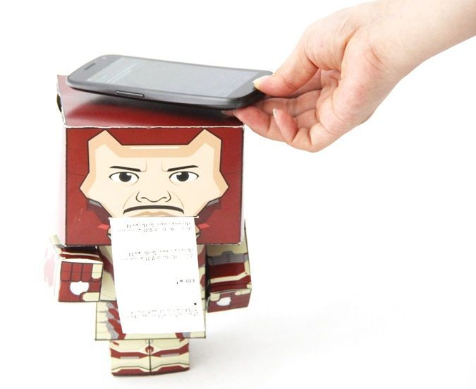 Picture of Paper Man: a machine created by Arduino and NFC.