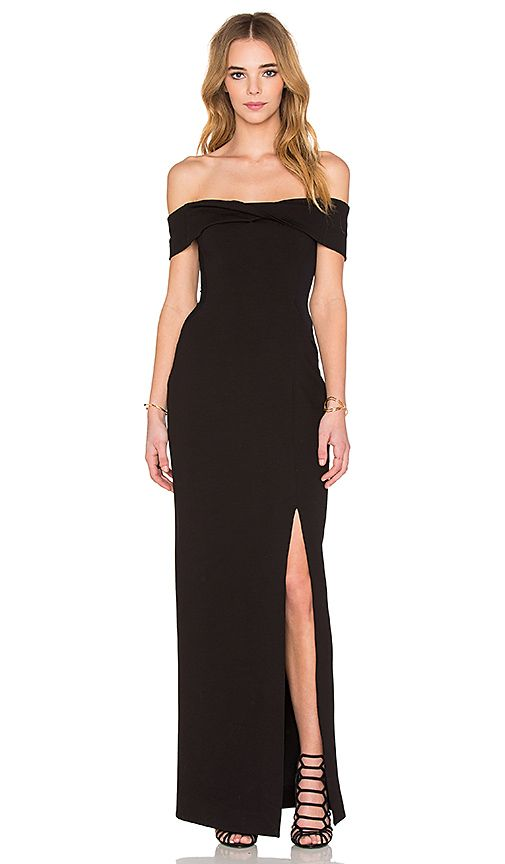 Shop for NICHOLAS Ponti Knot Front Off Shoulder Gown in Black at REVOLVE. Free 2-3 day shipping and returns, 30 day price match guarantee.