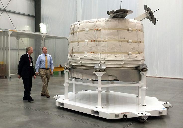 Le module BEAM en position repliée.