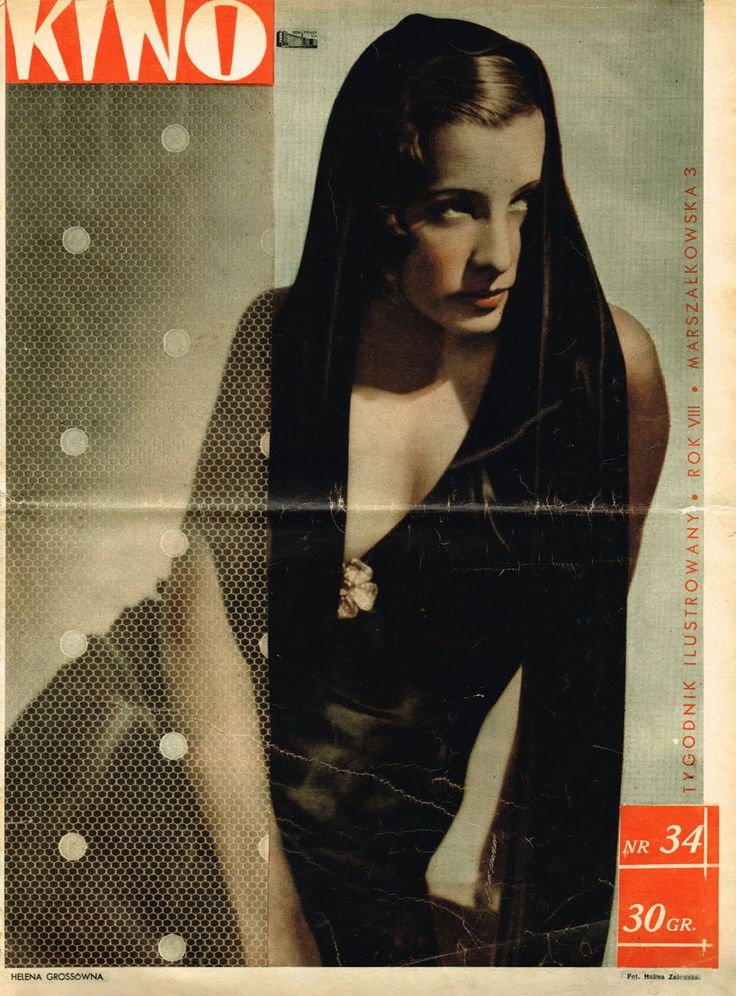 "Helena Grossówna ""KINO"" 22.08.1937"