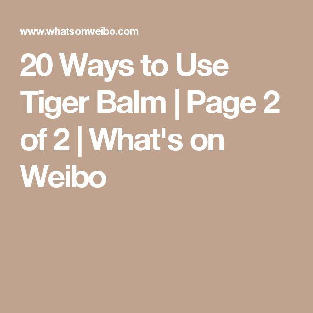 how to make tiger balm