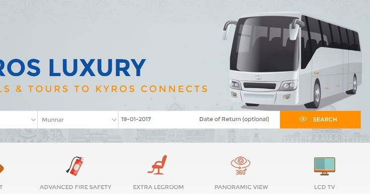 Kyros Connects Luxury Ac Bus Timing from Munnar to Alleppey, Direct Ac Luxury Bus Timings from Thekkady to Alleppey by Kyros Connection, Direct Luxury Ac Bus Services from Cochin airport to Munnar