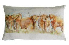 Highland Cattle Cushion By Voyage Maison http://www.abentleycushions.co.uk/detail.asp?pID=8308