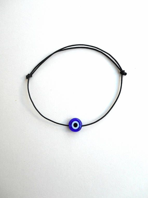 Evil eye bracelet String bracelet Black string Nylon